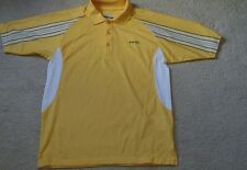 Mens Ping F3D golf polo top yellow size small