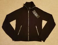 ICEBERG ICE-J Knitted Zip Up Top. Black. Size S (42). RRP £88.