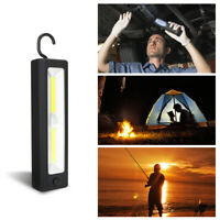 COB LED Work Light Flashlight Magnetic emergency Lamp Exploring Torch Light+Hook
