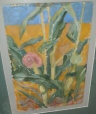 Flower & Plants Mixed Media Painting-1940s-Charles Gus Mager