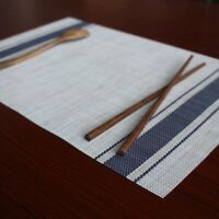 Rectangle Mats Non-Slip Heat Resistant Washable Placemats Set of 4 Kitchen Table