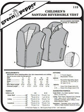 Children's Santiam Reversible Vest #112 Sewing Pattern (Pattern Only)