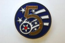 US USA USAF 5th Air Force Military Hat Lapel Pin