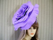 Big Lavender Rose Fascinator, Wedding Hat, Garden Tea, Halloween, Kentucky Derby