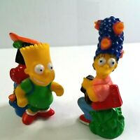 "BART & MARGE SIMPSON 1990 Burger King 3"" Camping Figures Lot  FREE SHIPPING"
