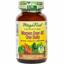 MEGA FOOD WOMEN OVER 40 0NE DAILY. 90 TABLETS. FACTORY SEALED. EXP FEB 2020
