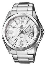 Reloj de Cuarzo Casio Edifice Para Hombre 129 Nuevo Fecha Reloj Glow mano Nueva En Caja Blanco Día