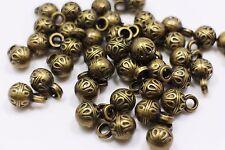 Bronze Ball Shaped Shank Button Royal Pattern Round Small Retro Shirt 12mm 20pcs