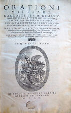 1560 – REMIGIO NANNINI, ORATIONI MILITARI – STORIA GRECA ROMANA ITALIANA MODERNA