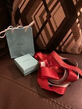 Tiffany & Co. Love Small Blue Paper Bag + Bows + Box