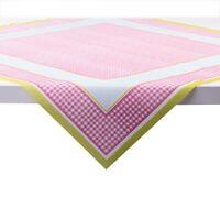 20 Tischdecke Vichy in rosa aus Linclass® Airlaid 80x80cm - Einweg Karos Punkte