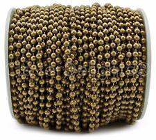 Ball Chain Spool - 100 Feet - Antique Bronze Color - 3.2mm Ball #6 - Bulk Pack