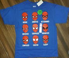 Glow In The Dark SPIDER-MAN Heads Marvel T-Shirt  Size Boy's XL. NWT