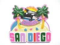 San Diego Poly Magnet 7 cm Palme Strand Wal Souvenir USA