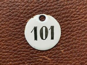 Number 101 Vintage Enamel Train Seat Numbers from Europe Lucky Number House Room