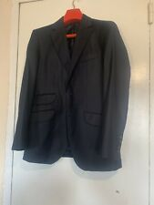 HACKETT MEN DARK BLUE LUXURY PURE WOOL BLAZER JACKET 40R