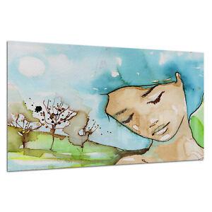 Photo Print Wall Art Picture Tempered Glass Watercolour Dreaming Prizma GWA0330