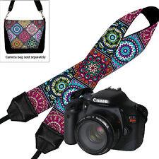 USA Handmade DSLR Camera Strap Padded Neck Strap Canon Nikon Colorful Mandala
