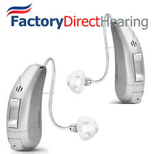 2 New Siemens Primax Pure 3 Px RIC Hearing Aids + easyTek, Charger, TV