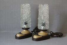 Paar zauberhafte Nachttischlampen Tischlampe Lampe Pressglas