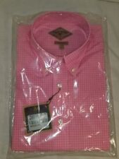 NEW BILLS KHAKIS PINK GINGHAM CHECK LONG SLEEVE BUTTON DOWN SHIRT SIZE LARGE