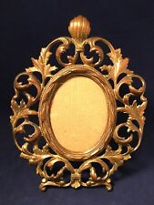 Brass mirror picture Frame tabletop or wall