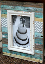 "Beach Style Rustic Wood  Photo Frame   (  6 ""  x   4  "" )     BRAND NEW"