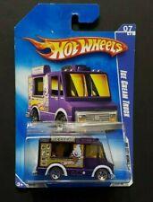 Hot Wheels - Hw City Works '09 - Ice Cream Truck - Purple w/ Red Lines & 5 spoke