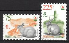 Dutch Antilles - 1999 Year of the Rabbit Mi. 994-95 MNH
