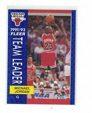 1991 - 1992 Fleer Team Leader Michael Jordan Chicago Bulls #375