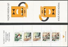 Finland 1992 MNH Booklet - Birds - White Wagtail Robin Waxwing