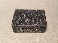 Ludwig Neresheimer Antique German Hanau Sterling Silver Musical Ornate Box
