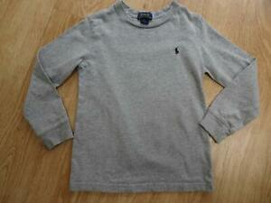 RALPH LAUREN POLO boys grey long sleeve top AGE 5 YEARS AUTHENTIC