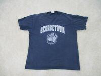 VINTAGE Champion Georgetown Hoyas Shirt Adult Large Blue Basketball Mens 90s *