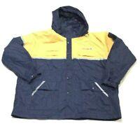 United Airlines Cintas Ground Crew Uniform Hooded Rain Jacket 3XL Shell Coat