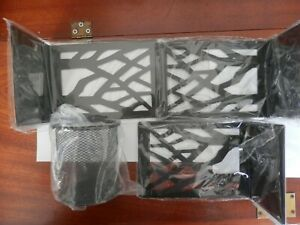 Metal bookends for shelve or desk with tree motive - set of 6 (3x2) & pen holder