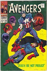 Avengers 56 1968 Captain America Bucky Death Be Not Proud! FINE 6.0-6.5