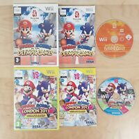 MARIO & SONIC AT THE LONDON 2012 OLYMPIC GAMES BEIJING 2008 BUNDLE NINTENDO WII