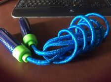SKIPPING ROPE BLUE WITH PLASTIC HANDLES