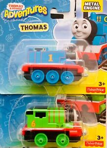 Thomas and Friends Adventures THOMAS And PERCY Metal Engine Fisher Price Toy KID