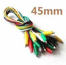 DZ1085 Crocodile Alligator 45mm Double-end Clip Test Jumper Probe Wire Cable x10