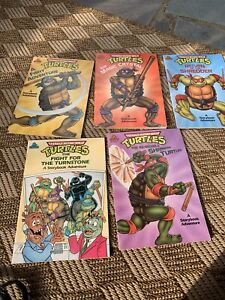 5 Teenage Mutant Ninja Turtles Random House Story Book Lot