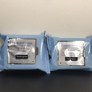 Lot of 2 Neutrogena Cleansing Makeup Remover Facial Wipes 21ct