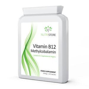 Vitamin B12 Methylcobalamin 1mg High Stength Supplement 120 Capsules