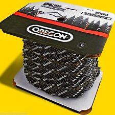 "Oregon 72LGX100 Ft Roll Full Chisel Chain 3/8"" x .50 Gauge,FIts Large Chain Saws"