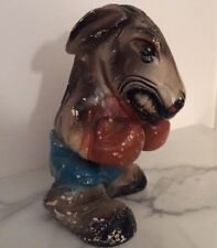 Vintage Chalkware Boxing Donkey Democratic Fighter Political Figure Retro