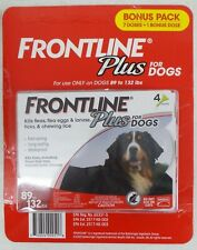 Frontline Plus Flea and Tick Dog Treatment 89-132 lb, 7+1 Doses, 8 Month Supply