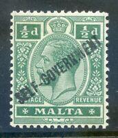 Malta 1922 Self Government ½d green Crown CA wmk. inverted mint (2019/06/05#03)
