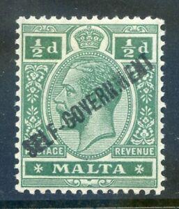 Malta 1922 Self Government ½d green Crown CA wmk. inverted mint (2019/10/01#01)