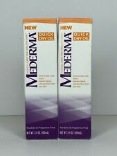 2 Mederma Quick Dry Oil Fragrance Free 3.4oz Scars Stretch Marks Uneven Skintone